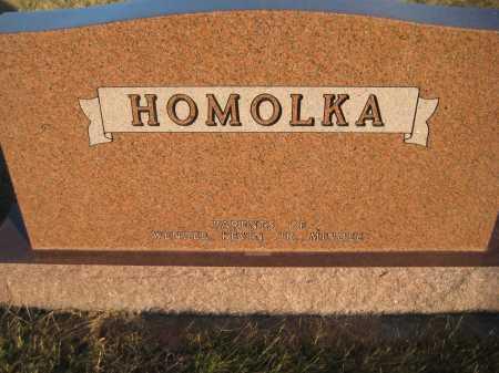 HOMOLKA, FAMILY MONUMENT - Saline County, Nebraska | FAMILY MONUMENT HOMOLKA - Nebraska Gravestone Photos