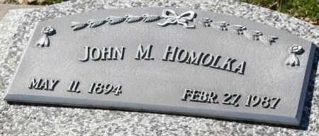 HOMOLKA, JOHN M. - Saline County, Nebraska | JOHN M. HOMOLKA - Nebraska Gravestone Photos