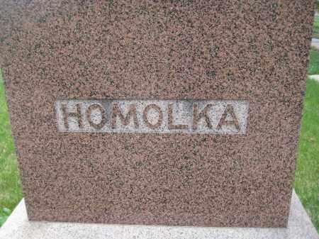 HOMOLKA, LOT STONE - Saline County, Nebraska   LOT STONE HOMOLKA - Nebraska Gravestone Photos