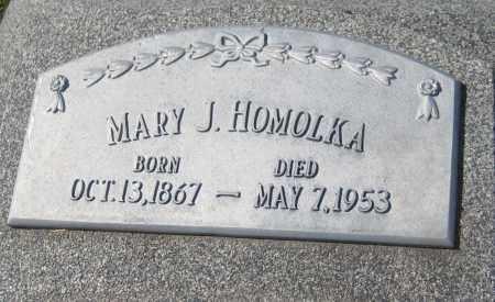 HOMOLKA, MARY J. - Saline County, Nebraska   MARY J. HOMOLKA - Nebraska Gravestone Photos