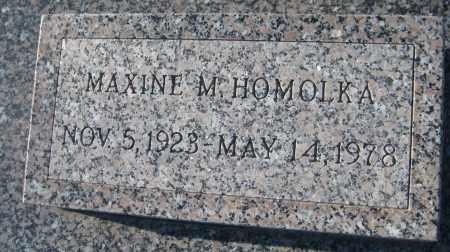 HOMOLKA, MAXINE MAE - Saline County, Nebraska | MAXINE MAE HOMOLKA - Nebraska Gravestone Photos