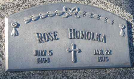 HOMOLKA, ROSE - Saline County, Nebraska   ROSE HOMOLKA - Nebraska Gravestone Photos
