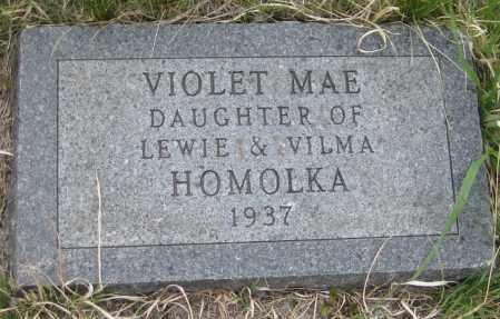 HOMOLKA, VIOLET MAE - Saline County, Nebraska   VIOLET MAE HOMOLKA - Nebraska Gravestone Photos