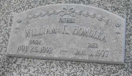 HOMOLKA, WILLIAM K. - Saline County, Nebraska | WILLIAM K. HOMOLKA - Nebraska Gravestone Photos