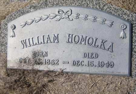 HOMOLKA, WILLIAM - Saline County, Nebraska | WILLIAM HOMOLKA - Nebraska Gravestone Photos