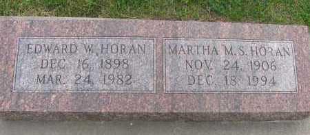 HORAN, EDWARD W. - Saline County, Nebraska | EDWARD W. HORAN - Nebraska Gravestone Photos