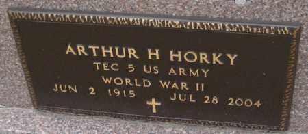 HORKY, ARTHUR H. - Saline County, Nebraska | ARTHUR H. HORKY - Nebraska Gravestone Photos