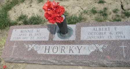 HORKY, ALBERT E. - Saline County, Nebraska | ALBERT E. HORKY - Nebraska Gravestone Photos