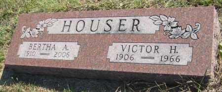 HOUSER, BERTHA A. - Saline County, Nebraska | BERTHA A. HOUSER - Nebraska Gravestone Photos