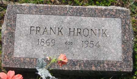 HRONIK, FRANK - Saline County, Nebraska | FRANK HRONIK - Nebraska Gravestone Photos