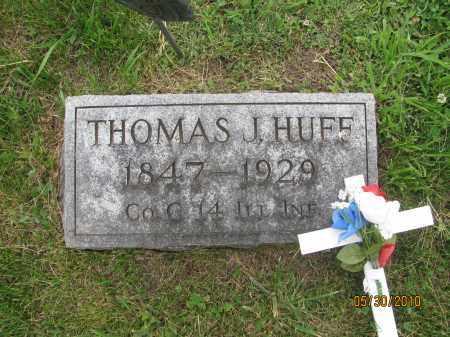 HUFF, THOMAS JEFFERSON - Saline County, Nebraska | THOMAS JEFFERSON HUFF - Nebraska Gravestone Photos