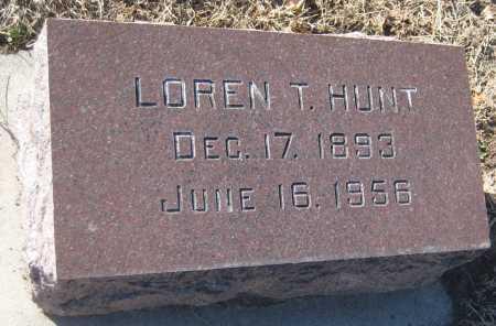 HUNT, LOREN T. - Saline County, Nebraska | LOREN T. HUNT - Nebraska Gravestone Photos