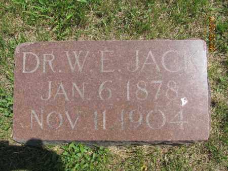 JACK, DR. WALTER EMERY - Saline County, Nebraska   DR. WALTER EMERY JACK - Nebraska Gravestone Photos