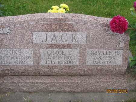 JACK, ORVILLE H. - Saline County, Nebraska | ORVILLE H. JACK - Nebraska Gravestone Photos