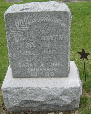 JIMMERSON, SARAH A. - Saline County, Nebraska | SARAH A. JIMMERSON - Nebraska Gravestone Photos