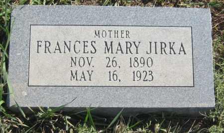 JIRKA, FRANCES MARY - Saline County, Nebraska   FRANCES MARY JIRKA - Nebraska Gravestone Photos