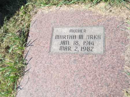 JIRKA, MARTHA M. - Saline County, Nebraska   MARTHA M. JIRKA - Nebraska Gravestone Photos