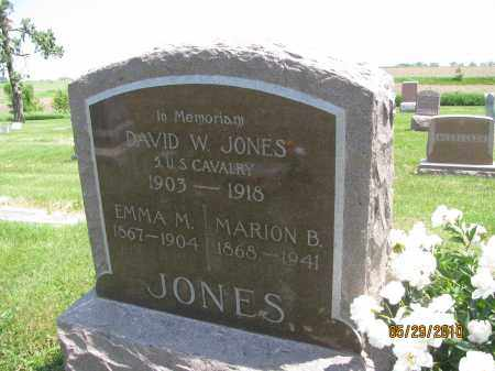 JONES, MARION B. - Saline County, Nebraska | MARION B. JONES - Nebraska Gravestone Photos