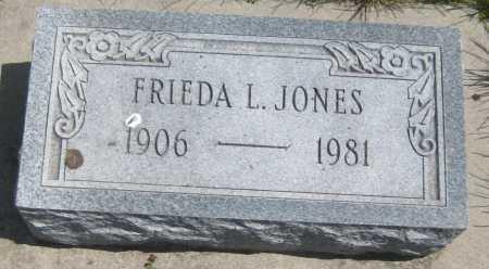 JONES, FRIEDA L. - Saline County, Nebraska | FRIEDA L. JONES - Nebraska Gravestone Photos