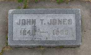 JONES, JOHN T. - Saline County, Nebraska   JOHN T. JONES - Nebraska Gravestone Photos