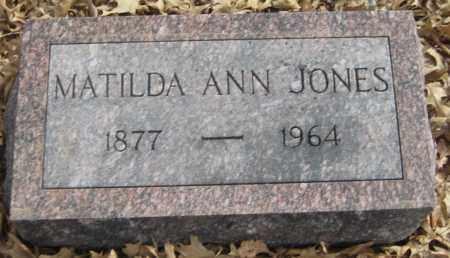 JONES, MATILDA ANN - Saline County, Nebraska | MATILDA ANN JONES - Nebraska Gravestone Photos