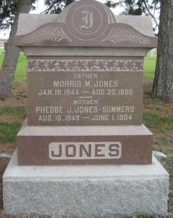 JONES, MORRIS M. - Saline County, Nebraska | MORRIS M. JONES - Nebraska Gravestone Photos