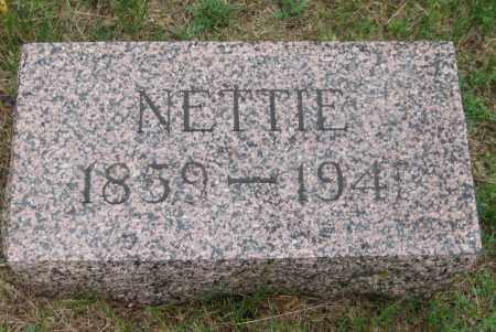 JONES, NETTIE - Saline County, Nebraska | NETTIE JONES - Nebraska Gravestone Photos