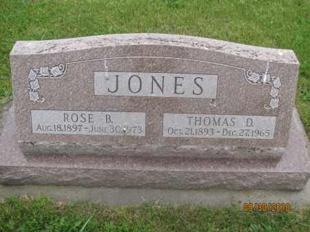 JONES, THOMAS D. - Saline County, Nebraska | THOMAS D. JONES - Nebraska Gravestone Photos