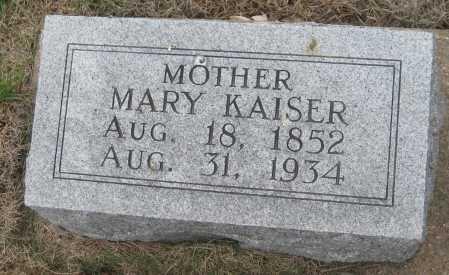 KAISER, MARY - Saline County, Nebraska   MARY KAISER - Nebraska Gravestone Photos