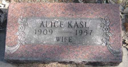 KASL, ALICE - Saline County, Nebraska | ALICE KASL - Nebraska Gravestone Photos