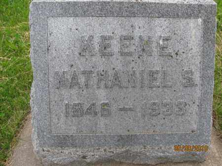 KEENE, NATHANIEL S. - Saline County, Nebraska | NATHANIEL S. KEENE - Nebraska Gravestone Photos
