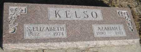 KELSO, S. ELIZABETH - Saline County, Nebraska   S. ELIZABETH KELSO - Nebraska Gravestone Photos