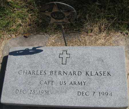 KLASEK, CHARLES BERNARD - Saline County, Nebraska   CHARLES BERNARD KLASEK - Nebraska Gravestone Photos