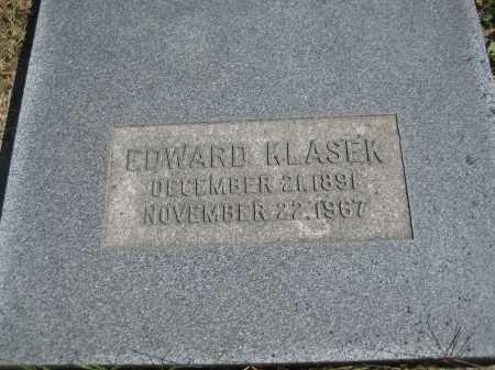 KLASEK, EDWARD - Saline County, Nebraska | EDWARD KLASEK - Nebraska Gravestone Photos