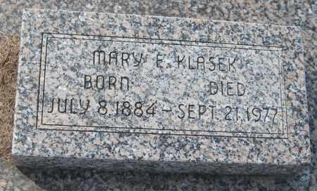 KLASEK, MARY E. - Saline County, Nebraska | MARY E. KLASEK - Nebraska Gravestone Photos
