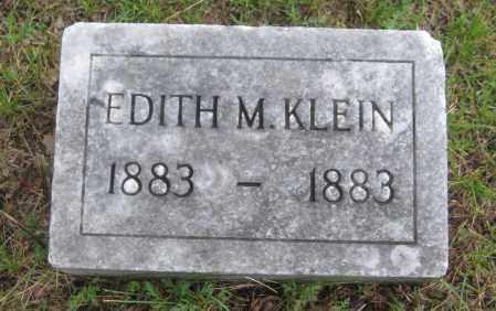 KLEIN, EDITH M. - Saline County, Nebraska   EDITH M. KLEIN - Nebraska Gravestone Photos
