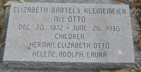 BARTELS, ELIZABETH - Saline County, Nebraska   ELIZABETH BARTELS - Nebraska Gravestone Photos