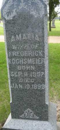 KOCHSMEIER, AMALIA - Saline County, Nebraska | AMALIA KOCHSMEIER - Nebraska Gravestone Photos