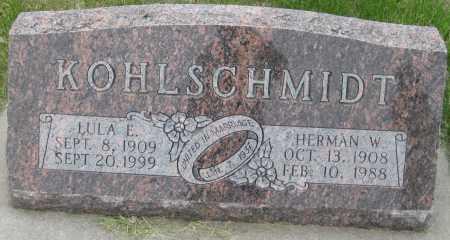 KOHLSCHMIDT, LULA E. - Saline County, Nebraska | LULA E. KOHLSCHMIDT - Nebraska Gravestone Photos