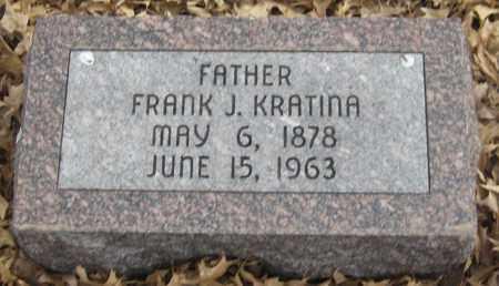KRATINA, FRANK J. - Saline County, Nebraska   FRANK J. KRATINA - Nebraska Gravestone Photos