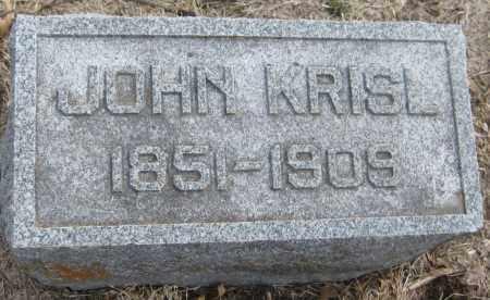 KRISL, JOHN - Saline County, Nebraska   JOHN KRISL - Nebraska Gravestone Photos