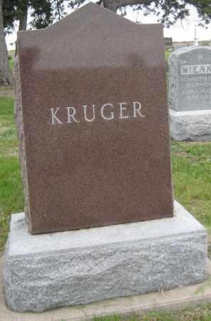 KRUEGER, FMAILY MONUMENT - Saline County, Nebraska   FMAILY MONUMENT KRUEGER - Nebraska Gravestone Photos