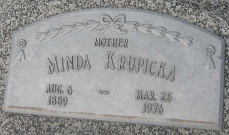 KRUPICKA, MINDA - Saline County, Nebraska | MINDA KRUPICKA - Nebraska Gravestone Photos