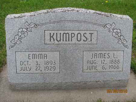 FREEOUF KUMPOST, EMMA - Saline County, Nebraska | EMMA FREEOUF KUMPOST - Nebraska Gravestone Photos