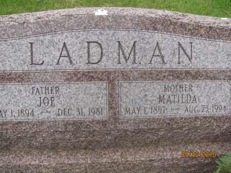 LADMAN, MATILDA - Saline County, Nebraska | MATILDA LADMAN - Nebraska Gravestone Photos