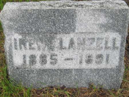 LANZELL, IRENE - Saline County, Nebraska | IRENE LANZELL - Nebraska Gravestone Photos