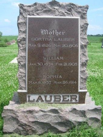 LAUBER, DORTHA - Saline County, Nebraska | DORTHA LAUBER - Nebraska Gravestone Photos
