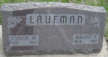 LAUFMAN, AUGUST F. - Saline County, Nebraska | AUGUST F. LAUFMAN - Nebraska Gravestone Photos