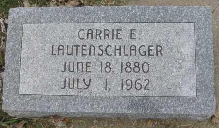 LAUTENSCHLAGER, CARRIE E. - Saline County, Nebraska | CARRIE E. LAUTENSCHLAGER - Nebraska Gravestone Photos