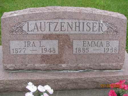 LAUTZENHISER, IRA L. - Saline County, Nebraska | IRA L. LAUTZENHISER - Nebraska Gravestone Photos